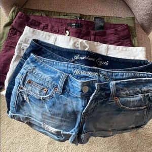 Multiple pairs of shorts - Variety (size 0, 2)